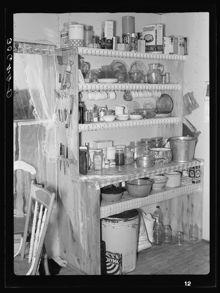 3. The kitchen of Charles Swanson near Northome is one of the most interesting things to look at. See if you recognize some of the foods on the top shelf.