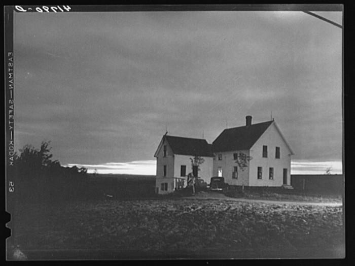 9. Farmhouse at dusk. (Presque Isle, 1940)