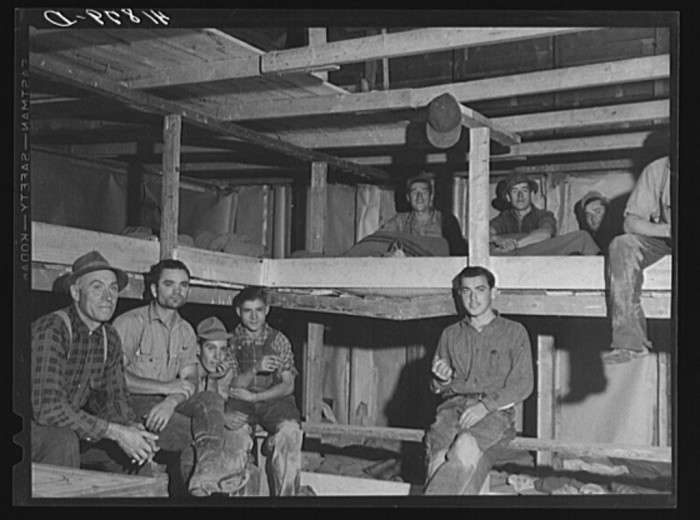 13. Sleeping quarters provided for pickers working at the Woodman Potato Company. (Caribou,1940)