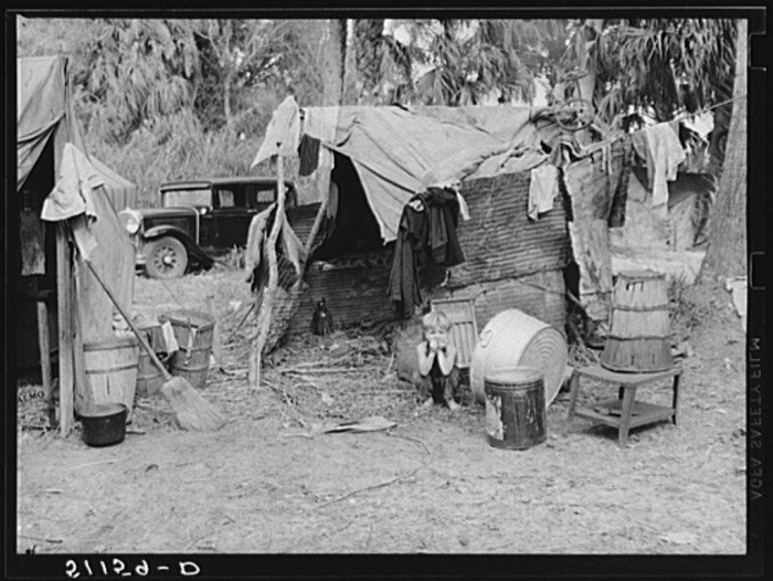 Migrant packinghouse workers living quarters.