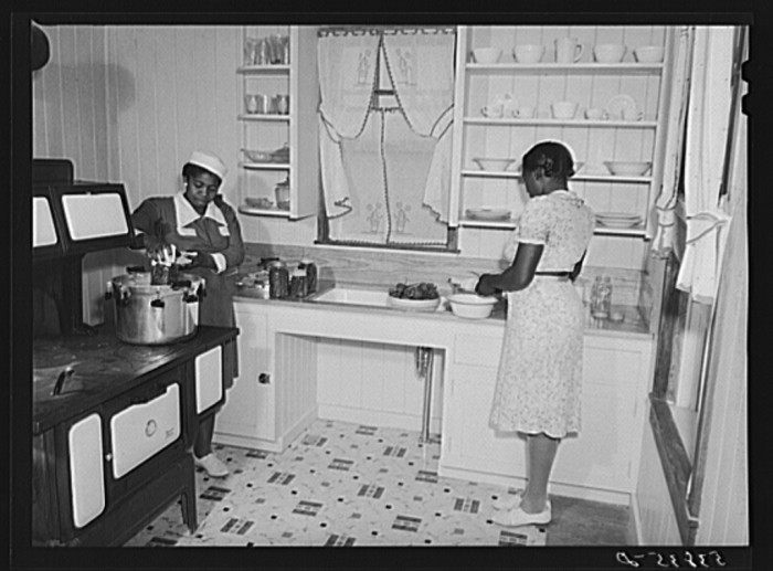 6. Every home was headquarters for preserving and canning vegetables.