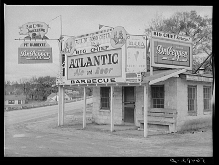 5. BBQ joint near Fort Benning, Columbus, Georgia - December 1940