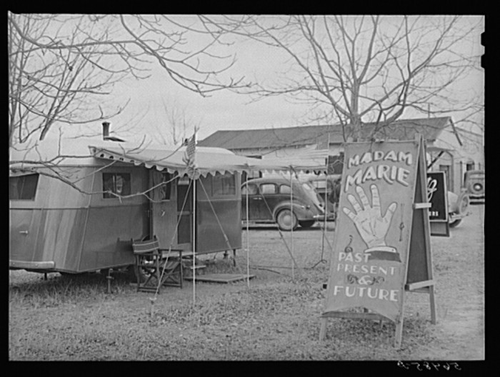 6. Fortune teller trailer near Fort Benning, Columbus, Georgia - December 1940