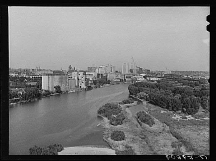 1. Looking at St. Paul on the Mississippi in 1939.