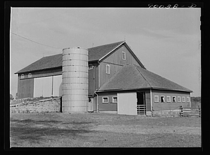 """16. """"Barn on farm near Dayton, Ohio."""""""