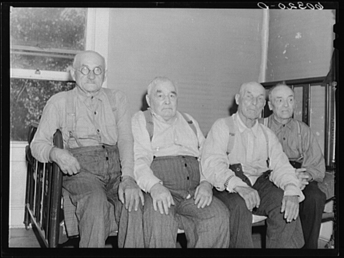 6. These 70-year-old and older men are residents of the Northern Minnesota Pioneers' Home in Spooner in 1939.