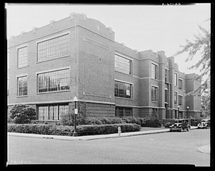 2. Here is a picture of a public high school in Decatur, Indiana taken in September of 1935.