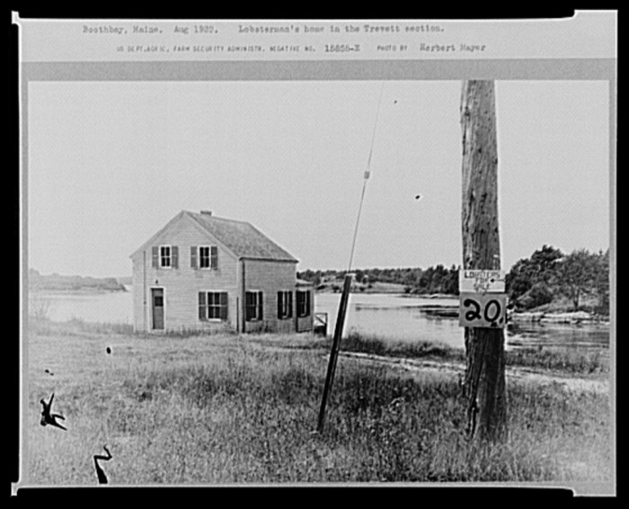 3. Lobsterman's home in the Trevett section of Boothbay. (1939)