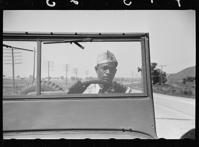 """1. """"Driver of a jeep of a reconnaissance unit."""""""