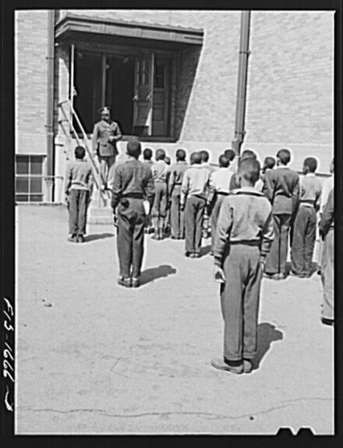 8. Here we have Chaplain George Washington Williams, who has just graduated from the U.S. Army chaplain school at Fort Benjamin Harrison, Indiana, giving a speech.