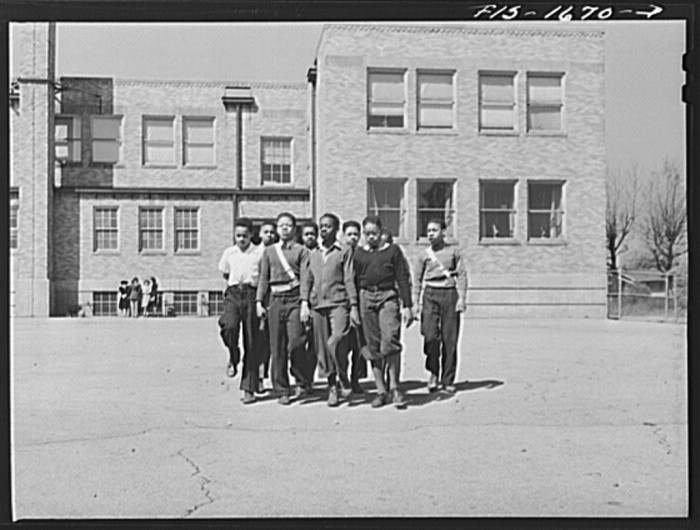 1. Here are school children of the Military Officers' Training Corps marching in formation for Chaplain George W. Williams, a graduate of the U.S. Army chaplain school at Fort Benjamin Harrison, Indiana.