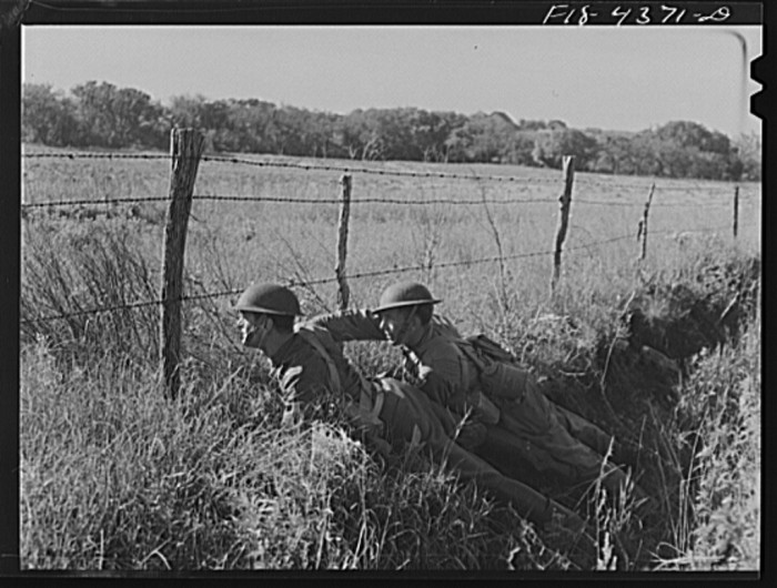"""17. """"During a field problem of a mechanized cavalry reconnaissance unit."""""""