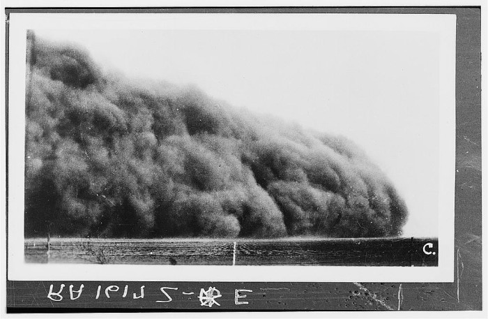 "12. ""Prowers County, Colorado. Dust storm."" (1935)"