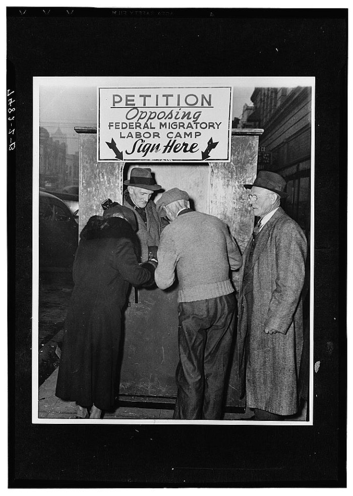 """22. """"Opposition to government migratory labor camps. Portland, Oregon"""""""