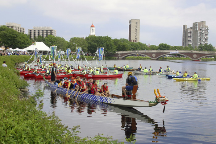2. Watch the Boston Dragon Boat Festival.