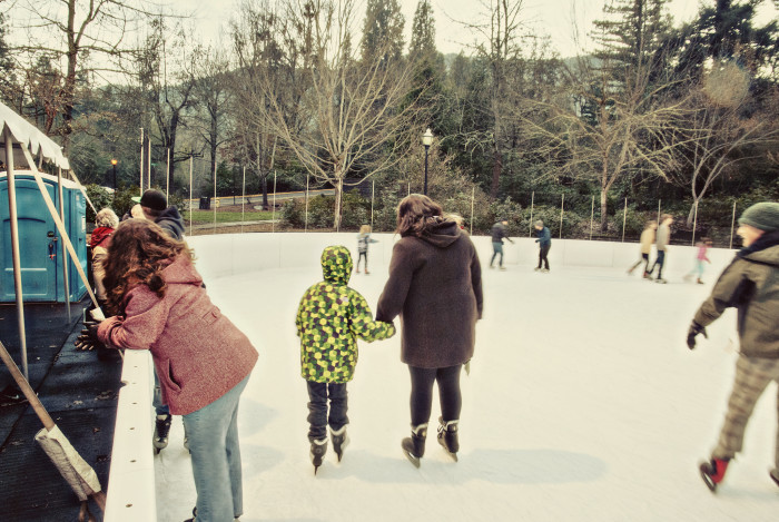 4. The outdoor ice rink in Ashland.
