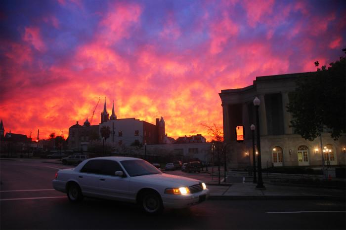 7. A fiery sky in Macon, GA