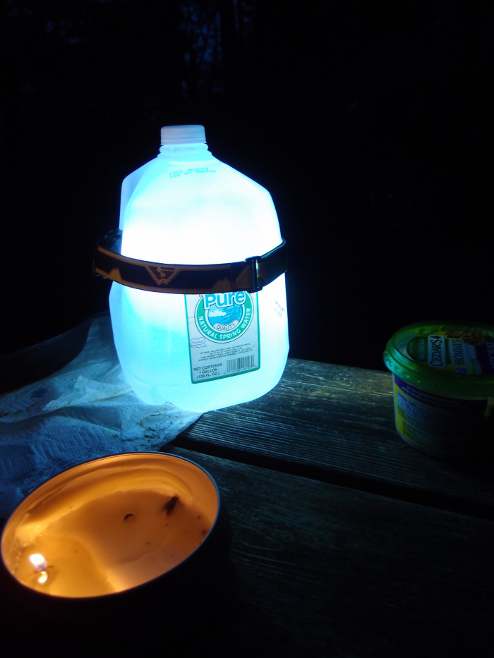 6. A home-made camping lantern.