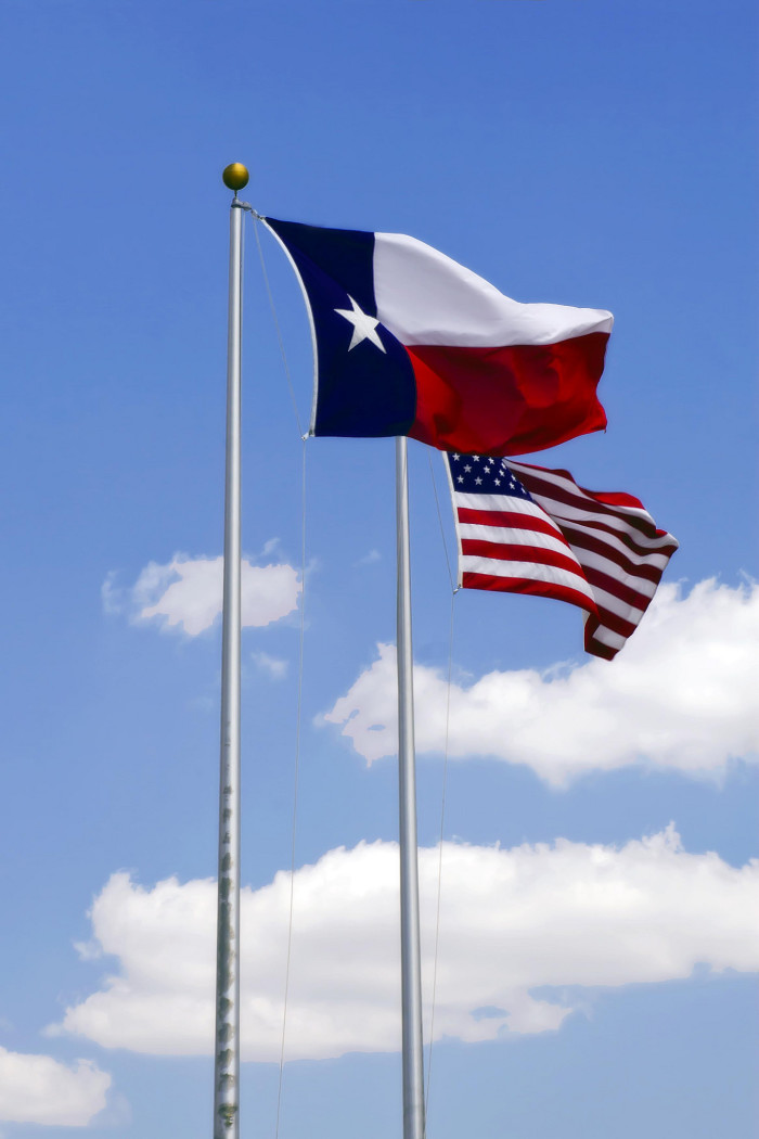 5) Flying our flag at the same height as the US flag.