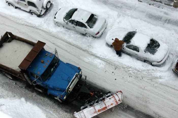 9. Driving in the winter.