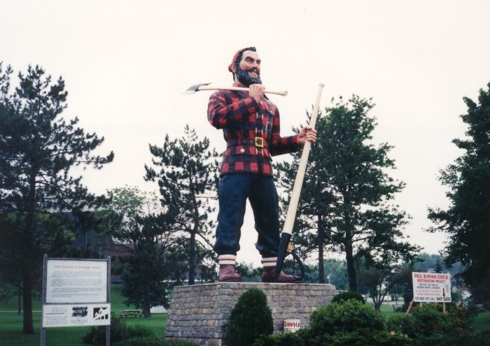 6. The (Claimed) World's Largest Paul Bunyan Statue, Bangor