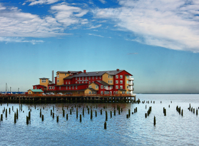 1. Have a romantic getaway at the Cannery Pier Hotel.