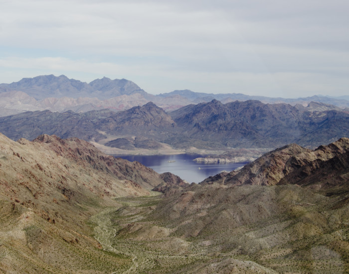 7. A misty morning on beautiful Lake Mead.