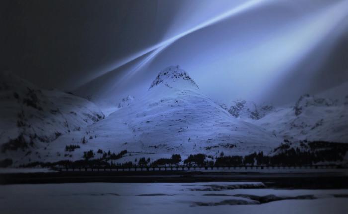 6) Dancing lights in Valdez.