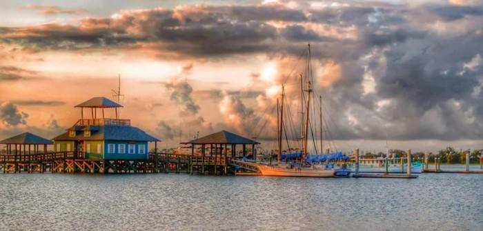 9. A shot of the Biloxi Harbor perfectly captures the essence of the coastal community.