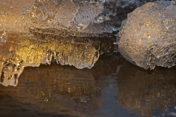 10) A build up of ice in a Traverse City cavern