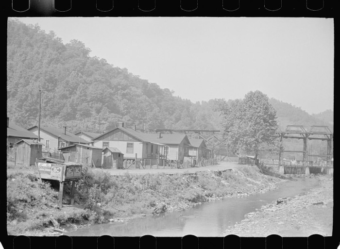 24. A coal mining town in Floyd County, 1938.