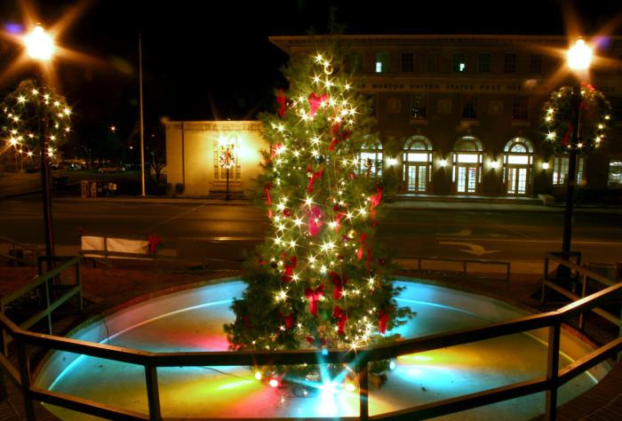 10) A million Christmas tree lightings