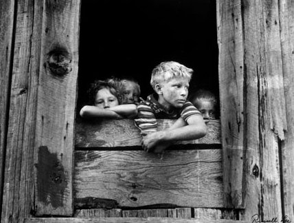 20. A miners children await his arrival in a Straight Creek Coal Co. home.