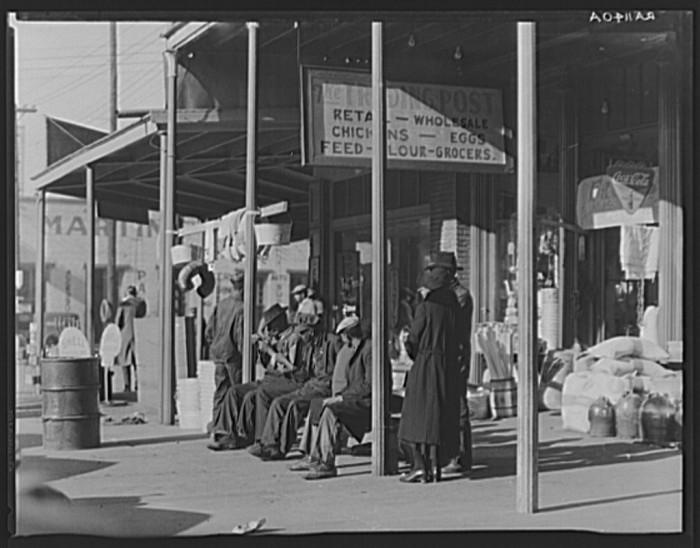 "4. ""Sidewalk scene in Selma, Alabama."""