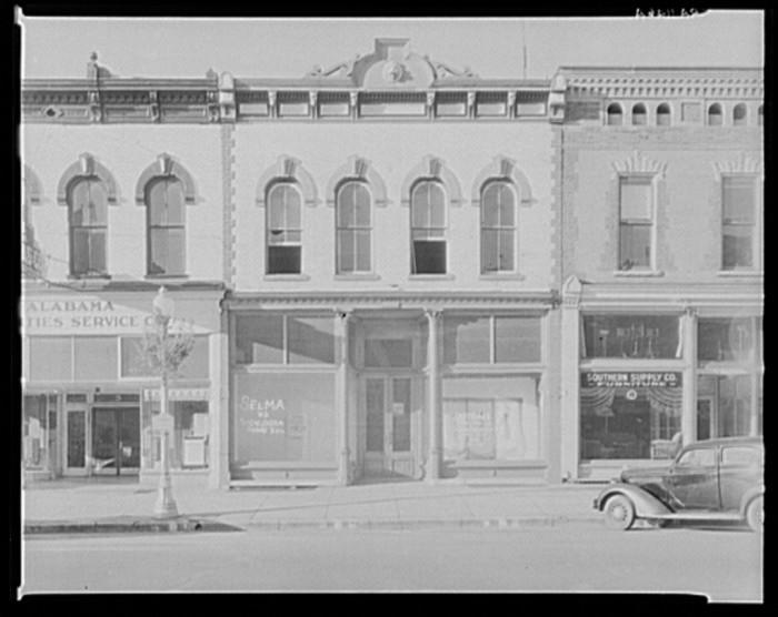 "8. ""Main street architecture. Selma, Alabama."""