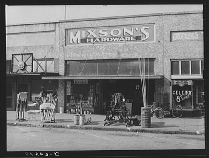 11. Front of Mixson's Hardware, Enterprise - 1939.