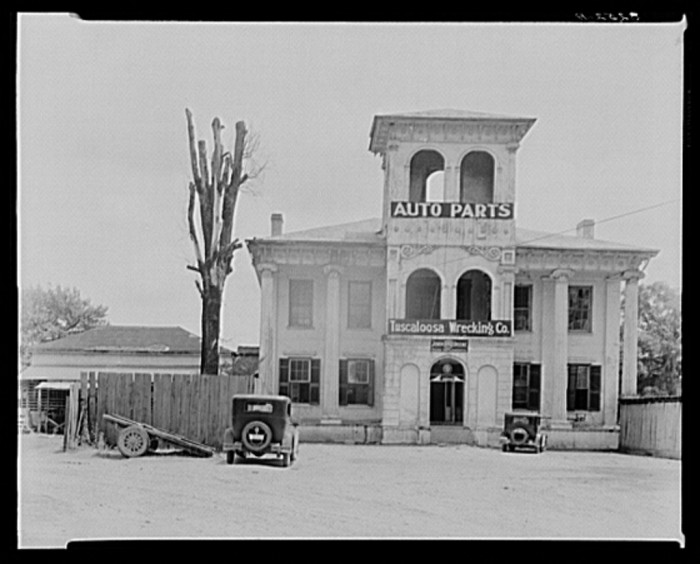 14. A converted antebellum residence into Tuscaloosa Wrecking Company and Auto Parts, Tuscaloosa - 1935.