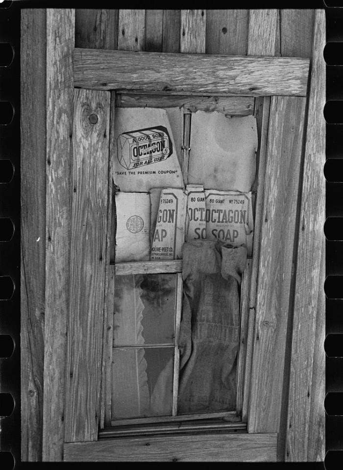 19. A window in a sharecropper's cabin, Walker County - 1937.