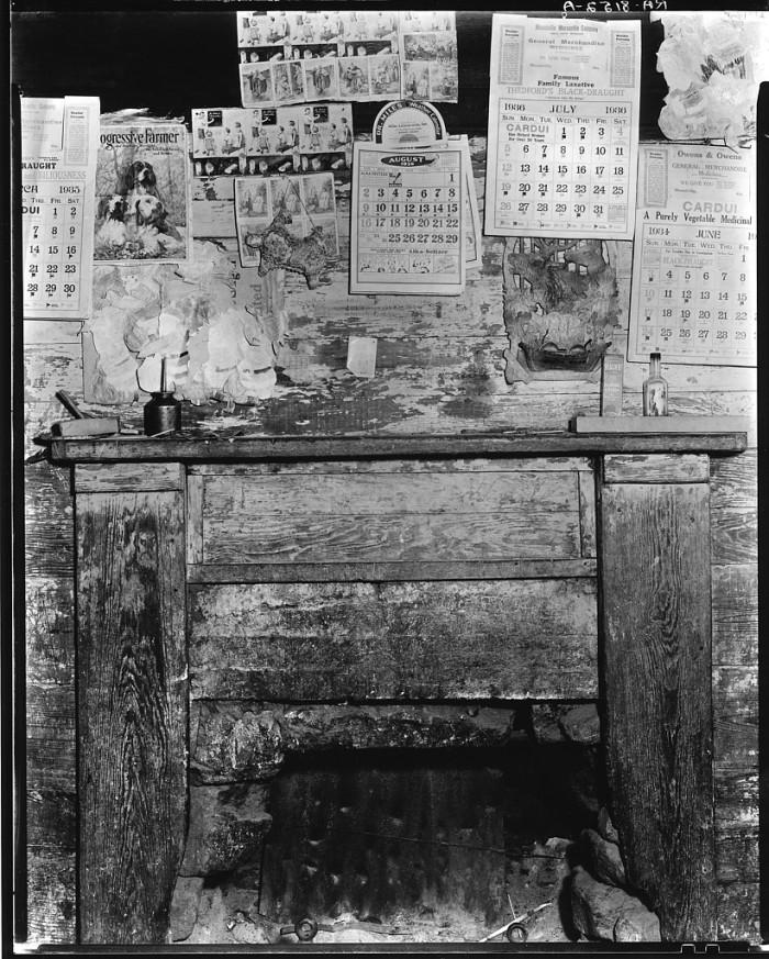 Fireplace inside Frank Tengles' Home