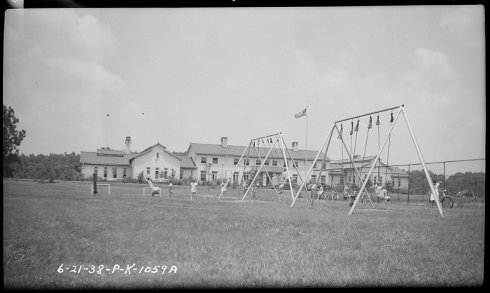 12. This is the Playground and School House at TVA School-Village in Sheffield - 1937.