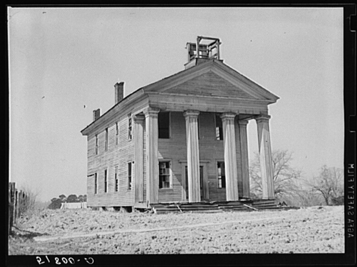 7. This school was actually built in the mid to late 1800s, and it was the first school to be built in Pike County. This photo was taken in 1939.