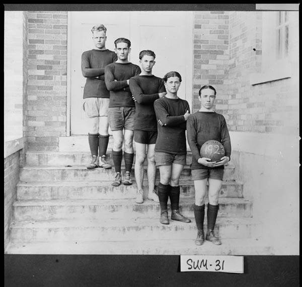 8. Americus, 1923. Members of the Third District Agricultural and Mechanical School basketball team pose for a photograph.