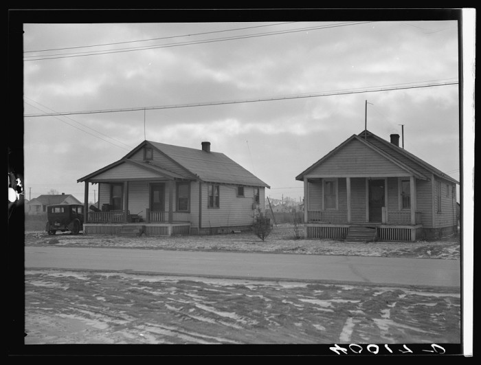11) Autoworkers' houses in Flint rent for $25-$35 a month They are equipped with stoves but water is drawn from a commercial well, February 1937.