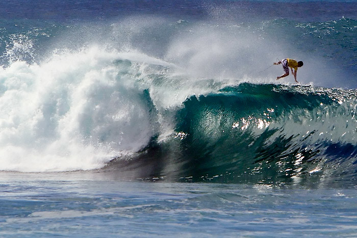The name, Banzai Pipeline, combines the name of the surf break (Pipeline), and the beach that fronts the area (Banzai Beach).