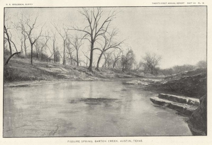 7. The waters of Barton Creek, now a popular summer hangout spot, were virtually untouched in 1900.