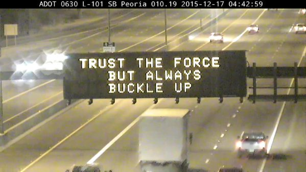 10. ADOT has gotten clever in their signs this year.
