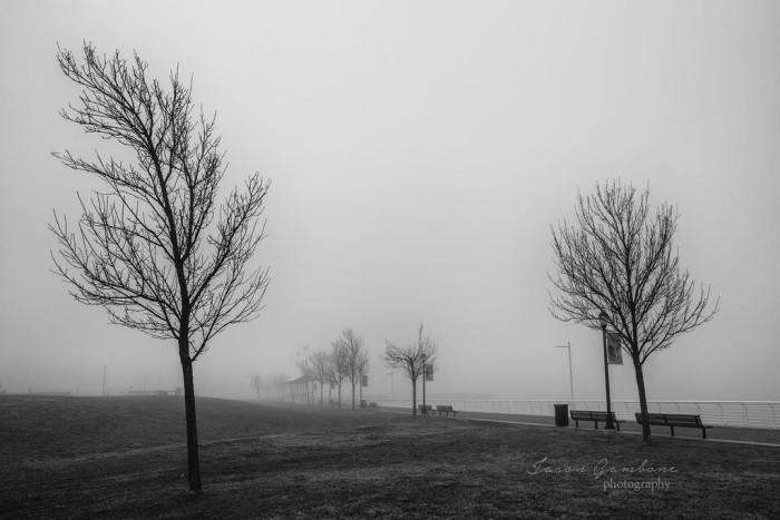 21. Heavy fog on the Camden waterfront, taken by JFGambone Photography.