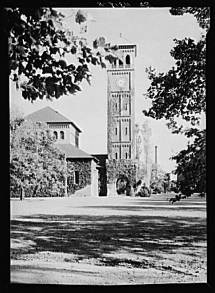 7. The Chapel Tower at Hampton Institute, 1936.