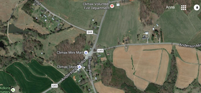 2. Climax (just down the road from Tight Squeeze, of course), Pittsylvania County