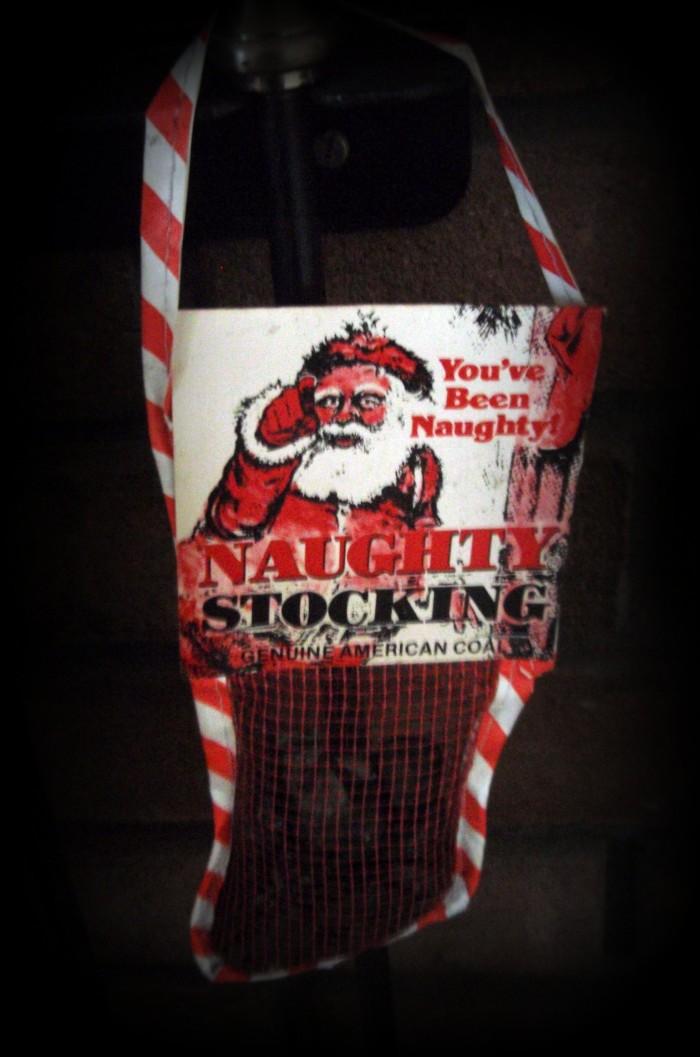 10. Coal for Santa.